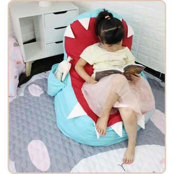 Stuffed Animal Toy Storage Bean Bag Shark Shape Child Toy Organizer Chair Home Decoration Furniture - DISCOUNT ITEM  39 OFF Furniture