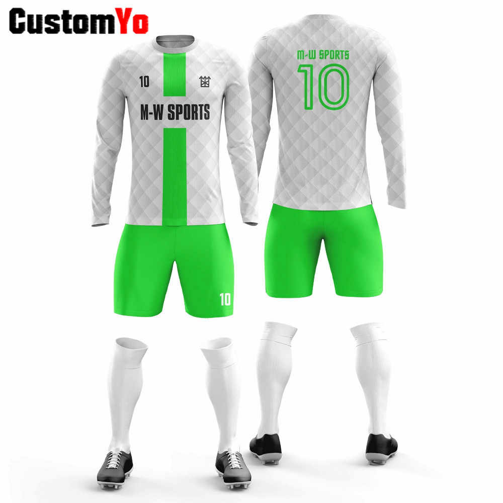 Soccer Jersey Customization Design Long Sleeve Football Uniforms Full Sublimation Training Tracksuit Football Wear