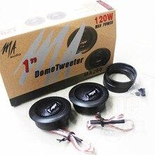 2pcs 2 Inch 120W 4Ohm Rubidium Magnetic Small Tweeter Car Speaker MA260 Super Dome Tweeter Lossless Installation