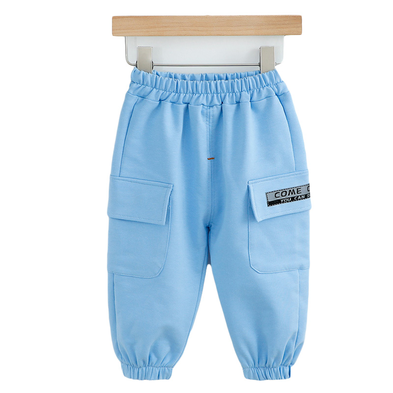 Baby Clothes Boy Sports Pants Toddler Letter Print Trouser Infant Cotton Elastic Waist Pants Newborn Girl Casual Trousers 0-4Y