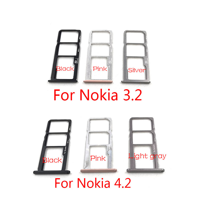 New SIM Card Tray Slot Holder Adapter Accessories For Nokia 3.2 4.2 Replacement Repair Spare Parts