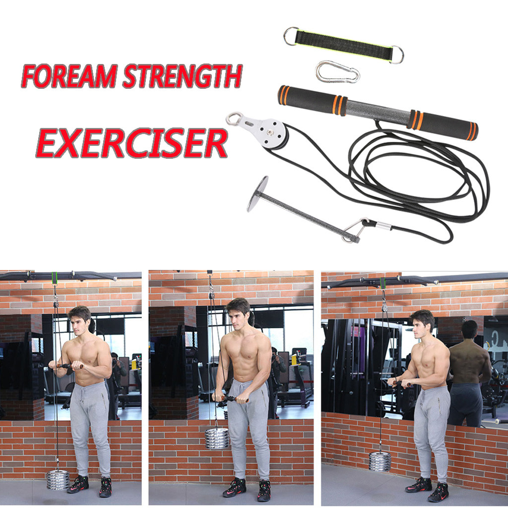 Arm Strength Fitness Equipment High Tie Rod Jack Puller Dumbbell Sports Equipment T Fitness Yoga Equipment Forearm Strength