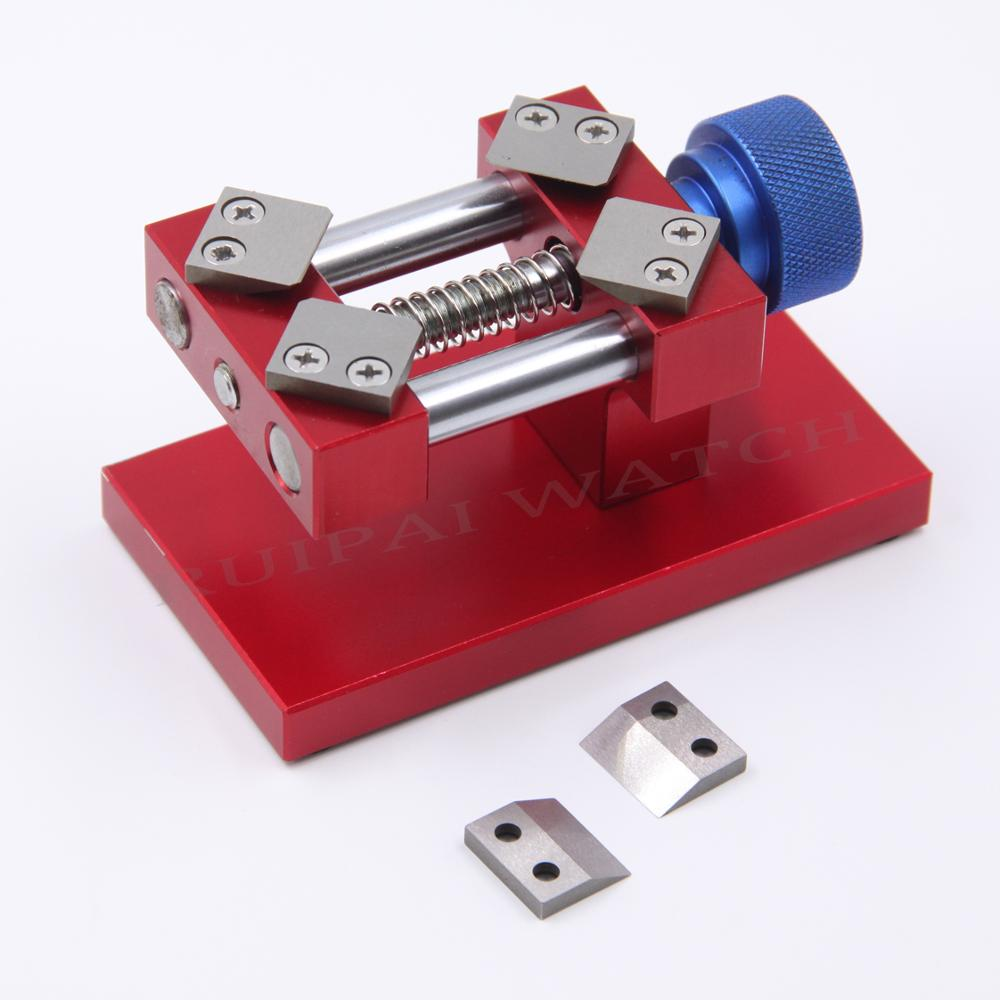 Professioanl Red /Silver Watch Bezel Opener Removal Tool Workbench Back Case Opener Tool Watch Parts Repair Tool For Watchmaker