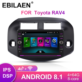 Car DVD GPS Multimedia player For Toyota RAV4 RAV 4 2007-2010 2DIn Android 8.1 Auto Radio Cassette Player  Navigation RDS Video android 9 0 ram 2g car dvd stereo player gps glonass navigation for honda accord 7 2003 2007 auto radio rds audio video