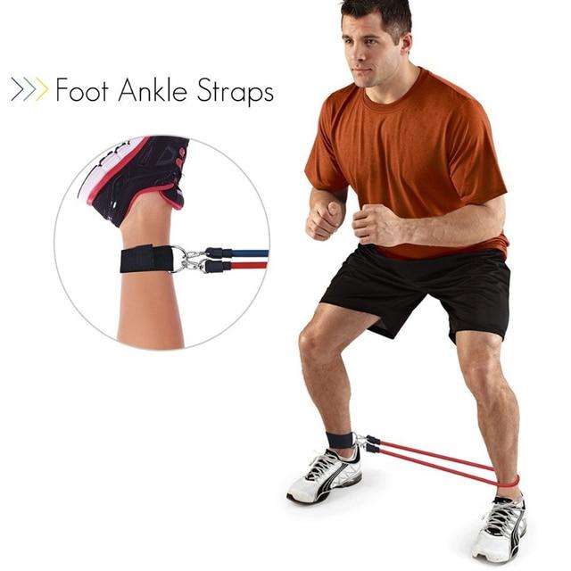 11 Pcs Resistance Bands Set Bodybuilding Expander Stretchy Gum Sports Workout Elastic Band For Training Rubber Bands For Fitness 5