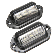 1Pair 6LED 12-24V License Plate Light Car Boat Truck Trailer Step Side Lamp Waterproof Super Bright Lights