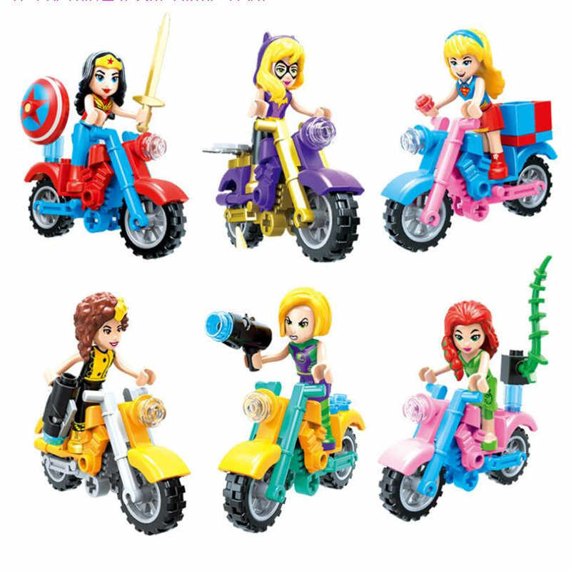 New DC Super Hero Girls Wonder Woman Dorm Girl Friends Building Blocks Model Toys Legoinglys Marvel Christmas gifts