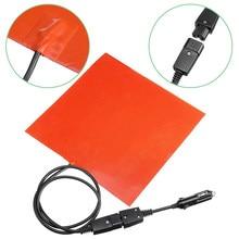 28x28cm 12v 150w silicone almofada de aquecimento esteira aquecedor rápido para entrega de alimentos saco aquecimento acessórios