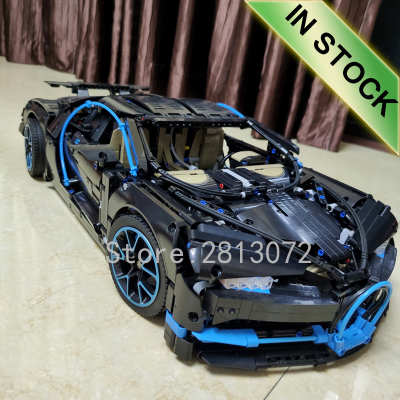 20086 In Stock Supercar Bugattis Blue\Red\Black Technic 42083 3625Pcs Supercar Model Building Blocks Bricks Toys