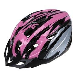 Rowerowy rower dla dorosłych przystojny kask z wizjerem z włókna węglowego różowy obwód głowy 54-65cm/szerokość głowy poniżej 16cm