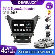 Android 9,0 auto Radio Multimedia reproductor de vídeo carplay navegación GPS para Hyundai Elantra Avante I35 2011-2016 FM 2din estéreo DVD
