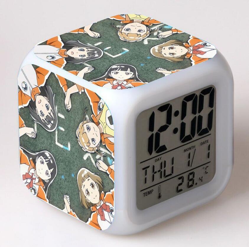 Despertador Digital para dormitorio y escritorio, reloj despertador con luz nocturna para niños, 7 colores, Anime