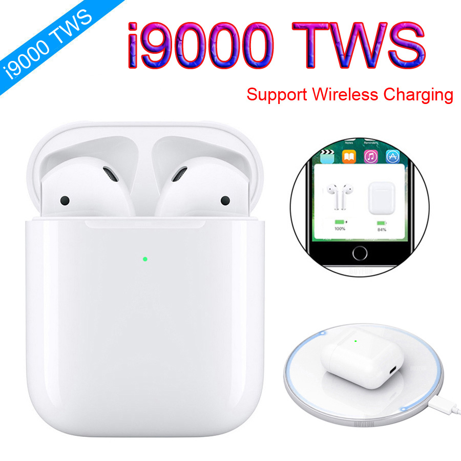 I9000 TWS Wireless Earphones Wireless Charging Sports True Earbuds Bluetooth 5.0 Earphones Not H1 Chip I10 I1000 I2000 I5000 Tws