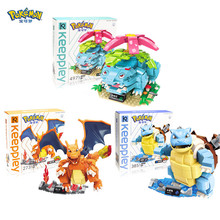 Pokémon building block toy Pikachu Charizard Blastoise Venusaur action figure granule building block Kids building block toy lno 217pcs charizard pokemon building block
