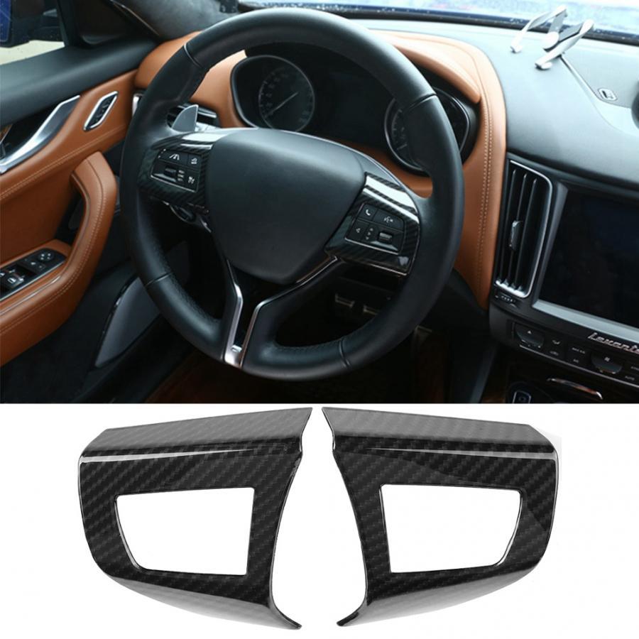 Car ABS Plastic Interior Navigation box Frame Cover Trim Accessories for Maserati Levante 2016 2017 2018 matte silver