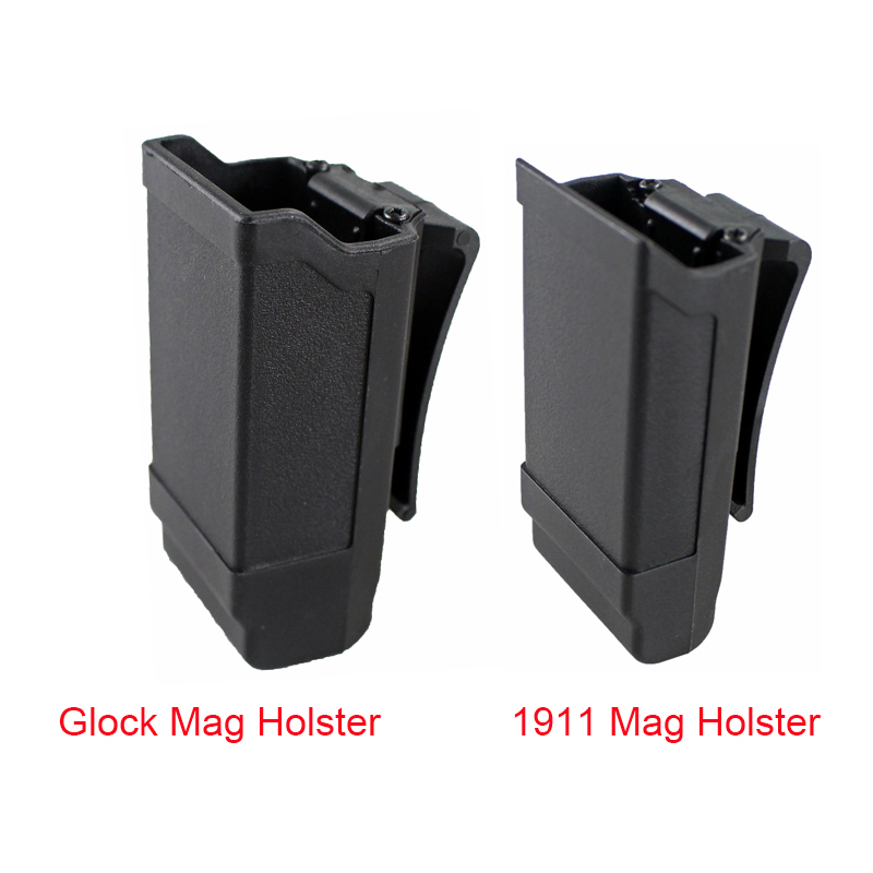 CQC Magazine Holster Tactical Gun Mag Holder For Glock 17 19 Or 1911 Caliber Magazine Hunting Accessories Mag Pouch