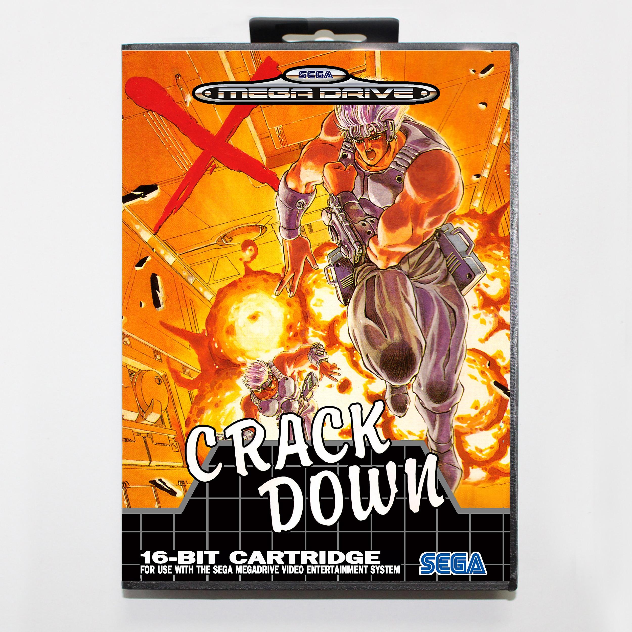 Crack Down with Retail Box 16bit MD Game Card For Sega Mega Drive/ Genesis 1