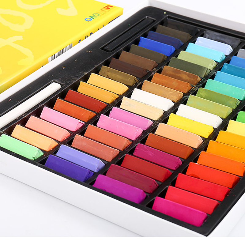 Color Chalk Soft Powder Brush Pastel Stick Painting Sketch Color Pastel Paint Pigment Paint Stick Painting Crayons Non-toxic
