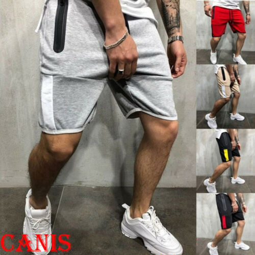 New Mens Sport Running Bodybuilding Solid Elastic Waist Male Summer Breathable Shorts Fitness Gym Casual Short Pant