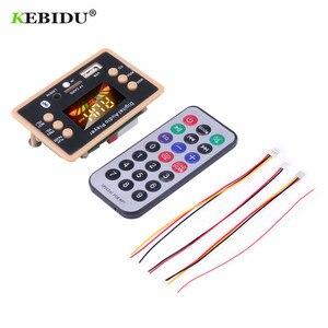 Image 4 - Bluetooth 5.0 MP3デコーダのデコードボードモジュール5 v 12v車のusb MP3プレーヤーwma wav tfカードスロット/usb/fmリモートボードモジュール