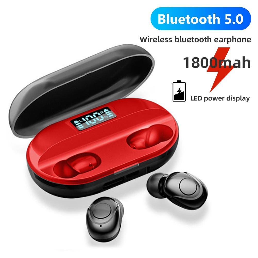Bluetooth 5,0 наушники TWS беспроводные наушники, бас стерео гарнитуры, кнопки управления наушники 1800mAh зарядная коробка с микрофоном