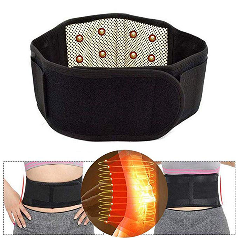 Tourmaline Magnetic Self-heating Belt For The Back Tourmaline Waist Product Therapy Ceinture Support Brace Lumbar Massage