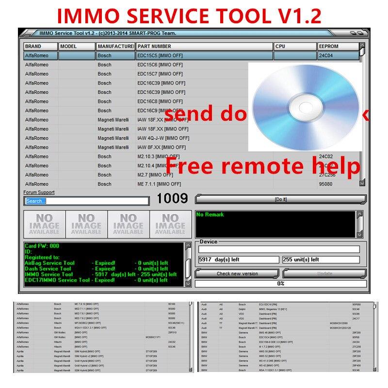Инструмент для обслуживания IMMO V1.2 PIN код и Immo off работает с поддержкой множества брендов, поддерживает больше моделей ECU