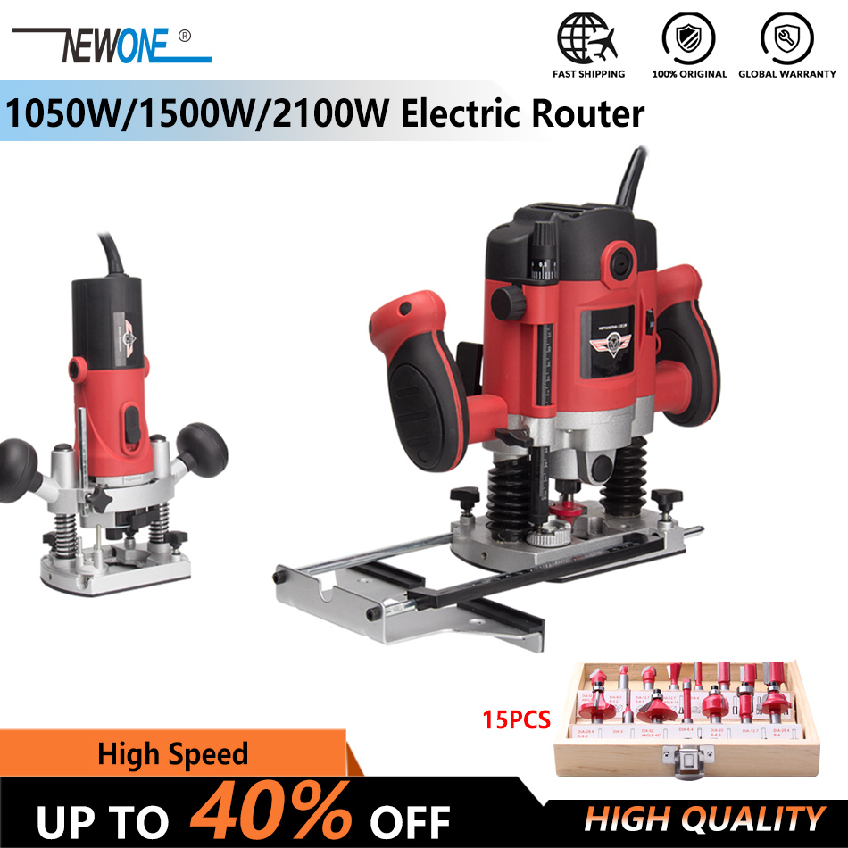1050W/1500W/2100W Woodworking Electric Router trimmer Wood Milling Engraving Slotting Trimming machine Hand Carving Carpentry