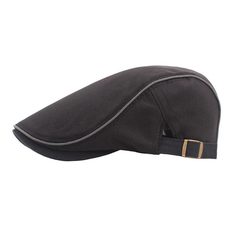 Men British Style Beret Hats Women Spring Summer Cap Casual Duckbill Hat High Quality Cotton Linen Outdoor Painter Beret Cap