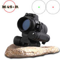 Caza punto rojo vista óptica Riflescope MAG M4 Aimpoint M4 mira de colimador de punto rojo para Airsoft Riflescope Caza alcance