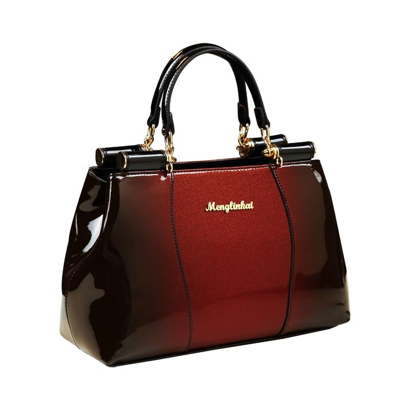 ICEV new luxury handbags women bag designer brand patent leather handbag boston messenger bag ladies office work handbag clutch