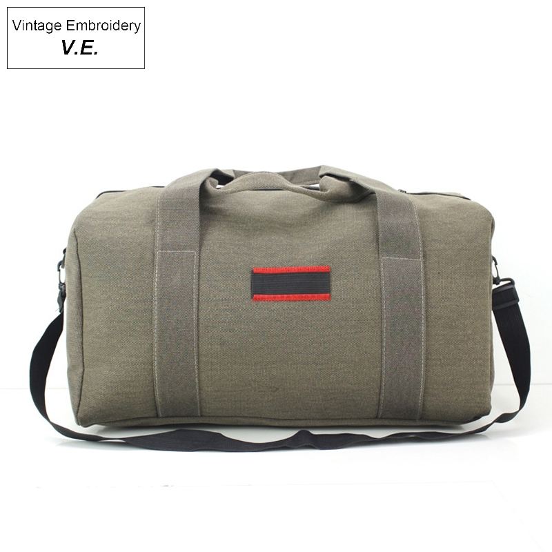 Fashion Working Bag Women's Luggage Travel Bag Wearable Canvas Handbag Large Capacity Clothes Weekend Bag Convenient Portable