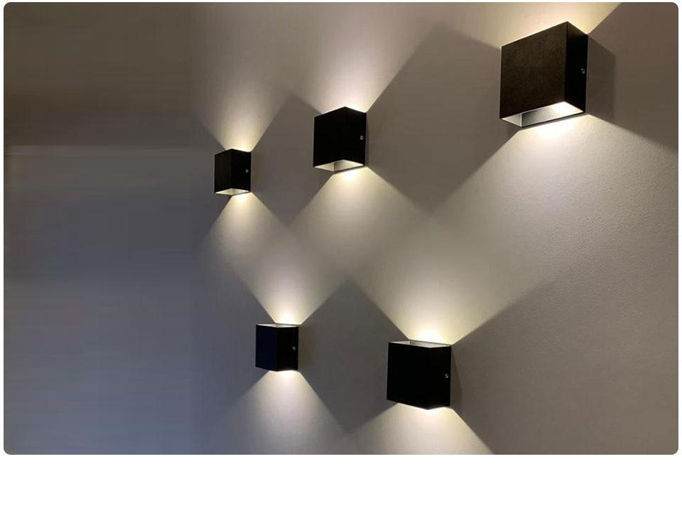 ângulo ajustável varanda jardim luz de parede