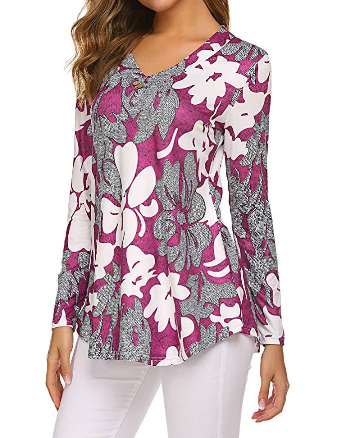 H2a5fec59fe6d4ee0bffe167743a38e766 - Large size Blouse Women Floral Print Long Shirts elegant Long Sleeve Button Autumn Tunic Tops Plus Size Female Clothing