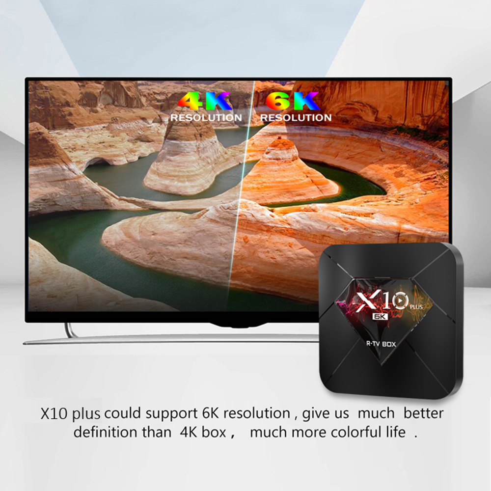 R-TV BOX X10 Plus Android 9.0 Smart TV Box Allwinner H6 4GB DDR3 32GB 64GB 2.4GHz WiFi décodeur USB 3.0 6K H.265 lecteur multimédia - 5