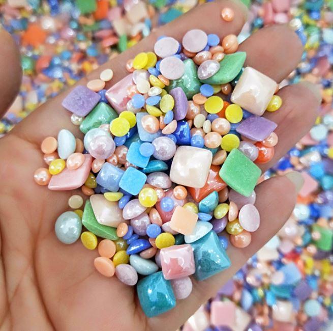 250 g/bolsa Multi colores con diferente forma cerámica azulejos de mosaico para DIY proveedor de moda Dropship 100 uds, herramientas de construcción de piso de cerámica plana, herramientas de construcción, sistema de nivelación de azulejos reutilizables, Kit de sistema de nivelación de azulejos