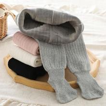 Зимние Модные Детские однотонные бархатные плотные теплые колготки