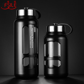 700ml 1000ml Portable Glass Water Bottles Outdoor Space Bottle Sports Water Bottle Leak-proof Bike Climbing new 400 600ml 3 color solid plastic spray cool summer sport water bottle portable climbing outdoor bike shaker my water bottles