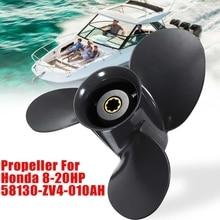 Marine Boat Outboard Propeller 9 1/4 X 10 1/2 for Honda 8-20Hp 58130-Zv4-010Ah Aluminum Alloy 3 Blades 8 Spline Tooth стоимость