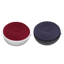 Inflatable Stool Ottoman Portable Patio Lounge Air Chair Footstool 62x32cm