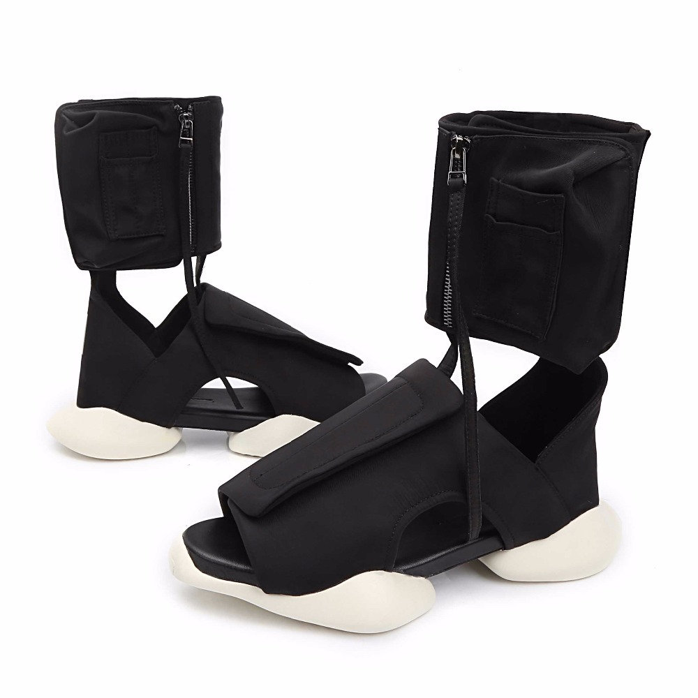 High Trend Open-toed Men's Sandals Increase Thick Bottom Platform Sandals Europe Summer Sandals Fashion Roman Sandals