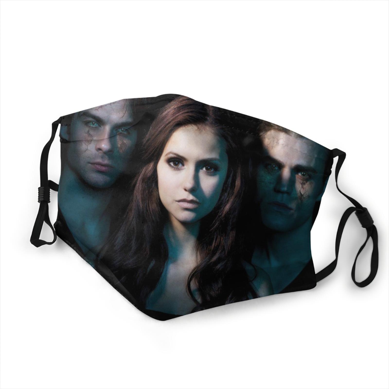 Новинка 2020, дышащая маска дневников вампира, модная дышащая маска для женщин и мужчин, Дневники вампира, ювелирные изделия, маска для мальчи...