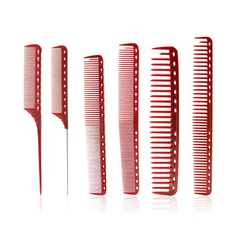 6 Pcs/Set Professional Hair Comb Heat Resistant Anti-static Salon Hairdresser Barber Combs Hair Care Styling Tools Cutting Comb