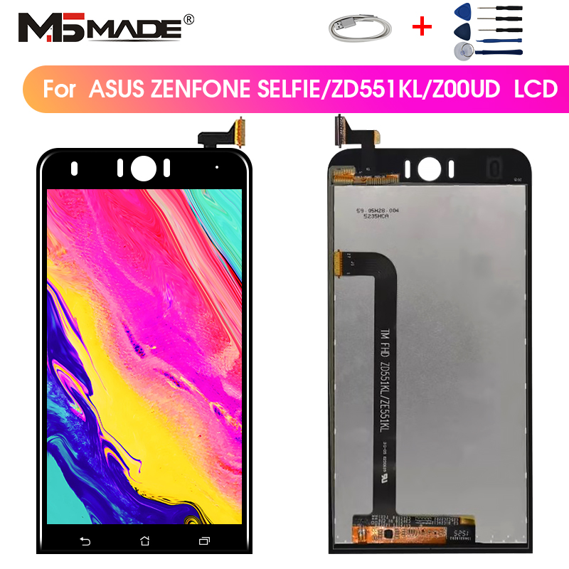 5.5'' Screen For <font><b>Asus</b></font> <font><b>Zenfone</b></font> <font><b>Selfie</b></font> <font><b>ZD551KL</b></font> Display <font><b>LCD</b></font> Touch Screen Digitizer Assembly Parts For <font><b>ASUS</b></font> Z00UD <font><b>ZD551KL</b></font> With Frame image