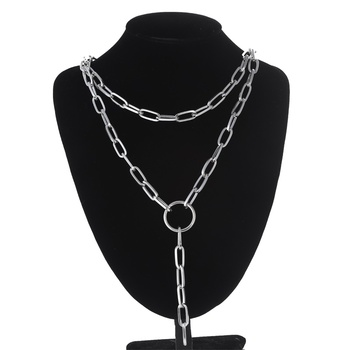 Layered Link chain necklace 2019 Fashion Long Necklace for Women chains choker jewelry kpop aesthetic accessoreis