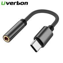 Aux cabo de áudio usb tipo c a 3.5 adaptador de fone de ouvido tipo-c a 3.5mm conversor de fone de ouvido para samsung s9 s8 huawei p20 adaptador usbc
