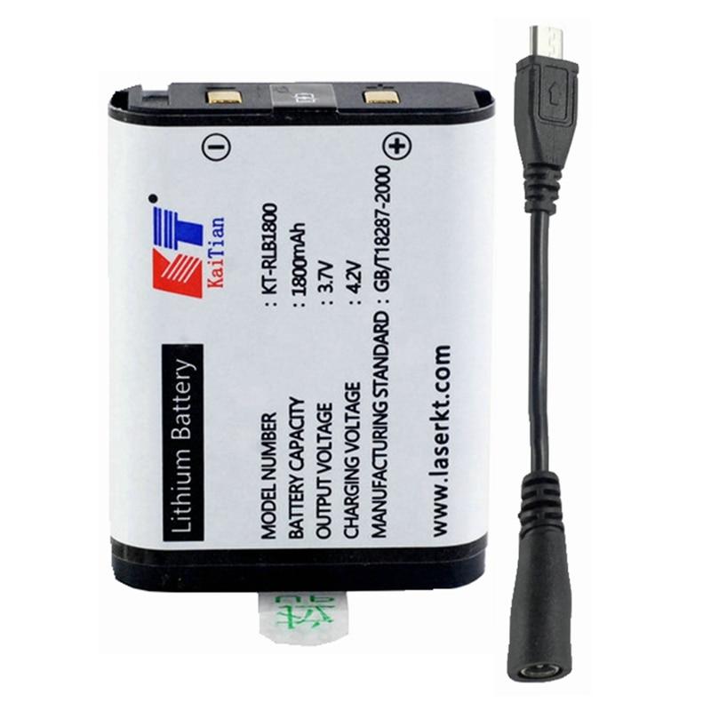 Batería de litio Kaitian para Green 5 líneas/12 líneas 3D1 o Red 2 líneas/12 líneas 3D5 nivel láser recargable con cableado de fuente de alimentación 5 unidades/unids/lote 650nm 5 mW Módulo de línea láser rojo 3VDC 120 grados C 12X35mm