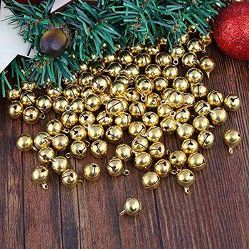 100 sztuk małe dzwonki 12mm dzwony miedzi Jingle Bells na świąteczne dekoracje DIY Pet małe dzwonki tanie i dobre opinie CN (pochodzenie) Tak ( 50 sztuk) HA1539-01B