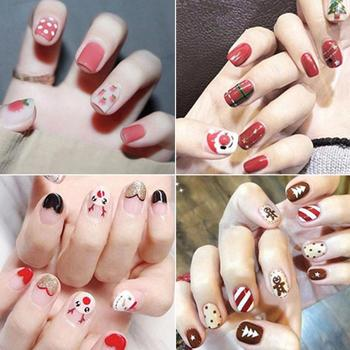 Nail Stickers DIY Nail Salon Manicure Pedicure Multi-style Christmas Self-adhesive Stickers Nail Art Decorative Watermark Film image