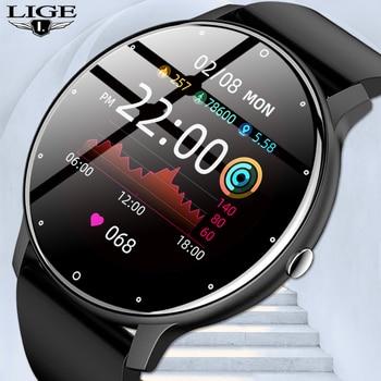 LIGE 2021 Fashion Smart Watch Men Fitness Bracelet Heart Rate Blood Pressure Monitoring Sports Tracker Smartwatch Gift for Women 1